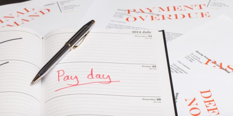 Pay day concept